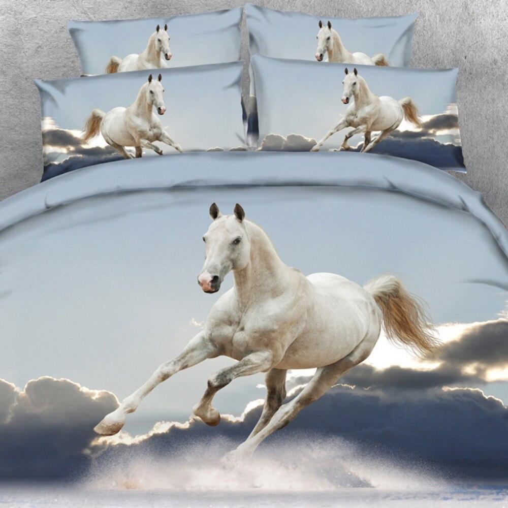 Brand Goldeny 3 Parts Per Set Stunning Cloud Dancer Horse 3d Digital animal bed linen 3d bedding setBrand Goldeny 3 Parts Per Set Stunning Cloud Dancer Horse 3d Digital animal bed linen 3d bedding set