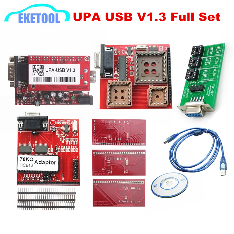 latest upa usb v1 3 red newest version full sets adapters auto ecu
