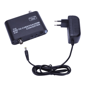 Full Hd 1080P Tvi/ Cvi /Ahd в Cvbs/Vga/Hdmi конвертер Hd видео конвертер (штепсельная Вилка европейского стандарта)
