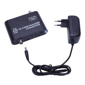 Konwerter Full Hd 1080P Tvi/ Cvi /Ahd na konwerter Cvbs/Vga/Hdmi konwerter wideo Hd (wtyczka Eu)
