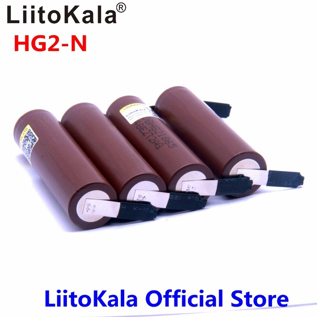 Hot LiitoKala HG2 18650 3000mah High power discharge Rechargeable battery power high discharge,30A large current+DIY nicke 2