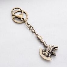 Punk Vintage Hatchet Shape Novelty Jewelry Keychain Ax Key Chain Ring Holder For Men Bag Charm Pendant Car Keyring Gift FY013
