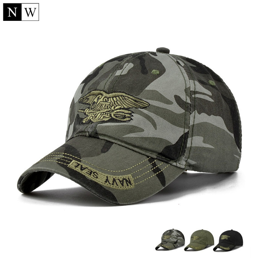 High Quality Camo Baseball Cap Men Camouflage Navy Seal Tactical Cap Mens Hats And Caps Bone Army Snapback For Adult