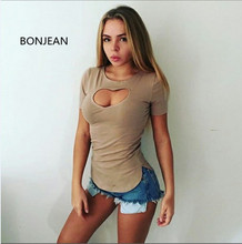 Tops Solid Sale Blusas Time-limited Blouse Women Shirts Free Shiping 2017 Europe And The Summer Sexy Color Short-sleeved Hollow