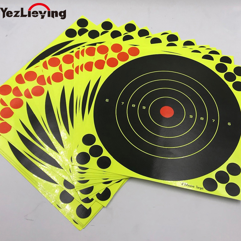 50 Splash spend reactive shooting target 8 inches stickers rifle, blaster / per package