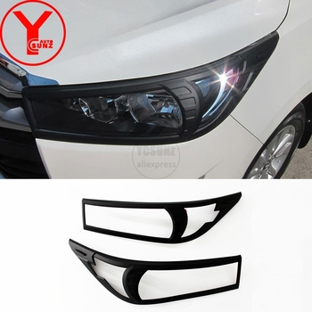 black head light cover For Toyota innova 2016-2019 ABS car styling headlight part accessories For toyota innova 2017 2018 YCSUNZ image