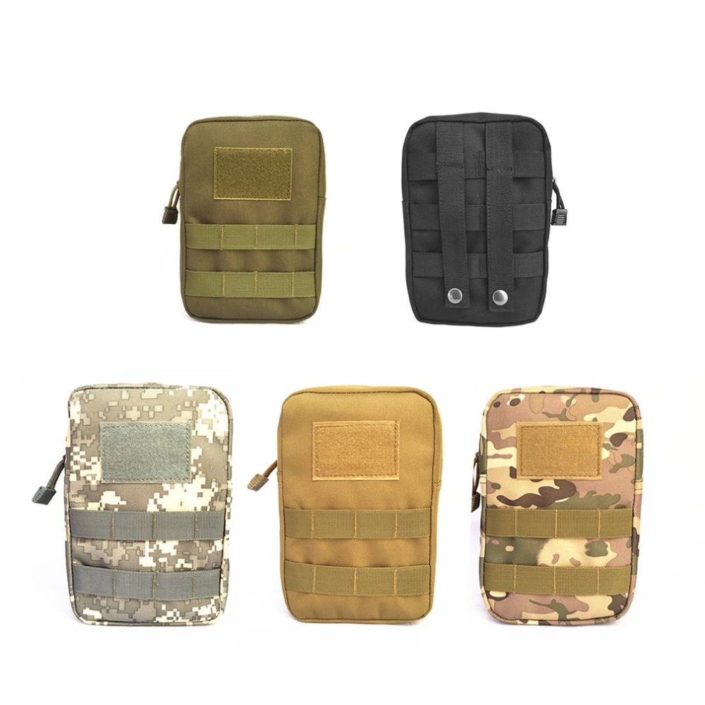 Outdoor Military Tactical Waist Bag Multifunctional EDC Molle Tool Zipper Waist Pack Accessory Durable Belt Pouch airsoftpeak military molle waist bag tactical edc pouches outdoor belt utility pouch tool zipper waist pack hunting bags