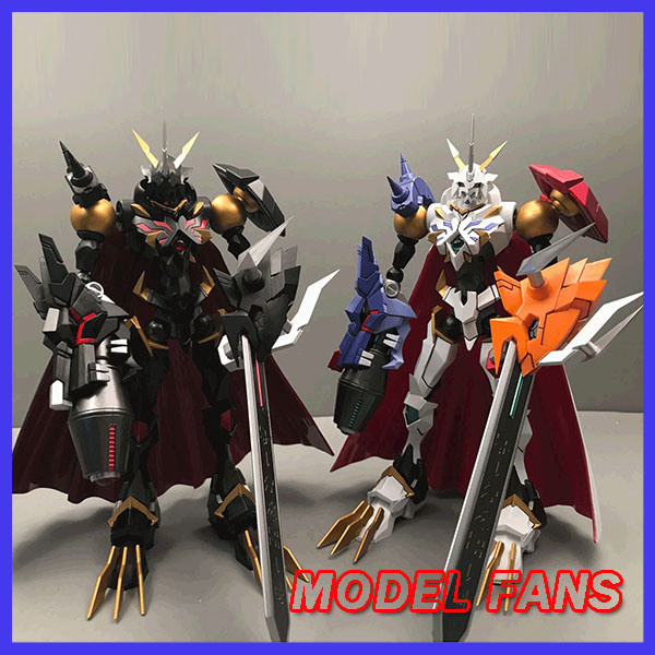 MODEL FANS IN-STOCK 18cm Digital Monster OMEGAMON X Contain Led Light White/black Action Figure For Collection