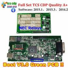 Лучший TCS CDP Pro V3.0 Доска + NEC Реле 2015.3 Программное Обеспечение С Keygen obd2 Автомобили или Грузовики Диагностический Инструмент Черно-Красный или Черный Цвет