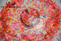 HN3-47 Mix Neon Colors Solvent Resistant   HEART Shape Glitter  Sequins,Spangles  1pack=50g