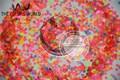 HN3-47 Mix Neon Colors Solvent Resistant   HEART Shape Glitter  Sequins,Spangles  1pack=50g