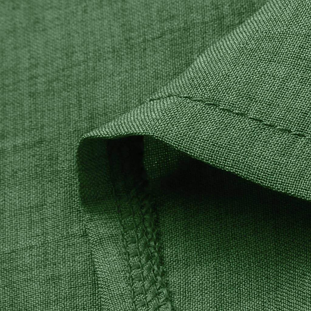 HTB1rBP9bcvrK1Rjy0Feq6ATmVXaU Large Plus Size !!Best Sale 2019 Women's Solid Boho Turn-down Collar Dress 3/4 Sleeve Casual Pocket Button Dress Vestido @6