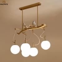 Modern LED Pendant Lights Loft Restaurant Decor Bird Light Pendant Lamp Glass Lighting Fixtures Bar Dining Kitchen Hanging Lamps