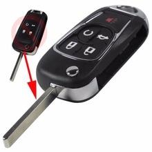 4+1 5 Button Remote Key Seamless Fob Styling For Chevrolet Camaro / Cruze / Equinox / Impala / Malibu / Sonic