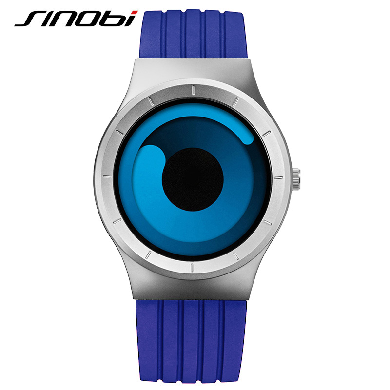 sinobi sport watches for blue silicone