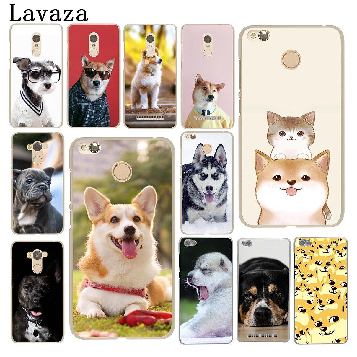 Lavaza Cute French Bulldog corgi Golden Retriever Dog Case for Xiaomi Redmi 4X Mi A1 6 5 5X 5S Plus Note 5A 2 3 3S 4A 4 4X Pro