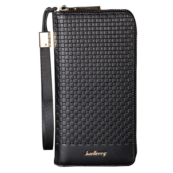 ABDB baellerry 1 PU leather mens long section leisure large capacity pattern pattern zipper wallet hand bag holding bag 20.5