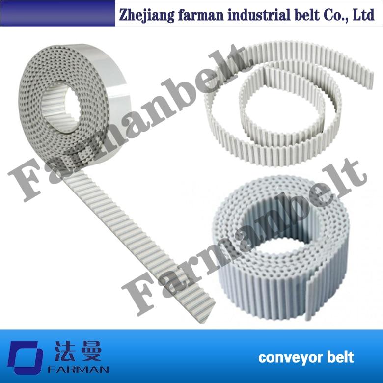 PU S3M S5M S8M S14M white width 20mm open ended timing belt for joint machine 32 atp10 1610 white color timing belt
