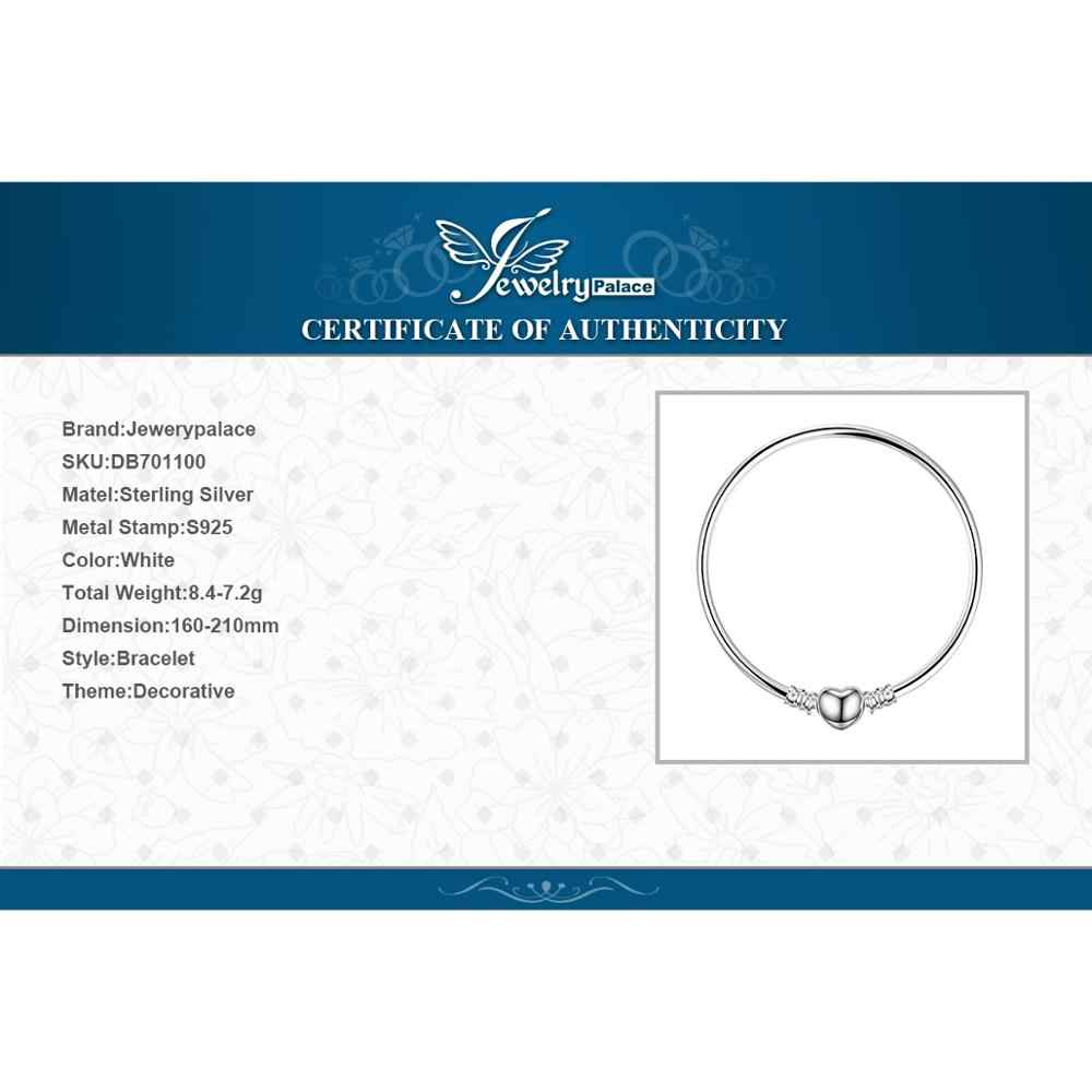 Jewelrypalace Original 925 Sterling Silver กำไลข้อมือสร้อยข้อมือผู้หญิง Love Heart Fit ลูกปัดเงิน 925 เดิม DIY