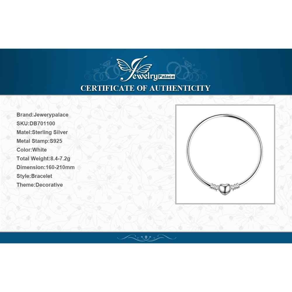 Jewelrypalace original 925 prata esterlina corrente pulseira pulseiras para as mulheres amor coração caber contas encantos prata 925 original diy