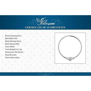 Image 4 - Jewelrypalace orijinal 925 ayar gümüş zincir bileklik bileklik kadınlar için aşk kalp Fit boncuk Charms gümüş 925 orijinal DIY
