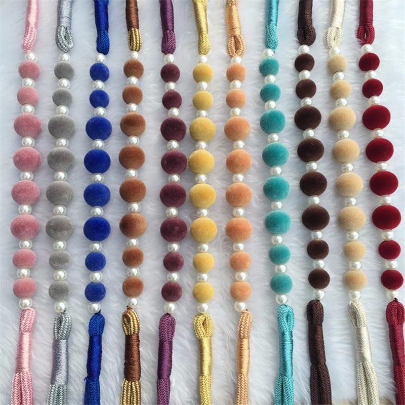 DIY Curtain Holders Tieback Clips Hanging Ball Pearl