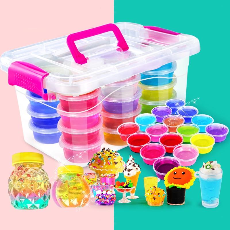 Toys & Hobbies Learning & Education Honesty 12/24color Ton Schleim Diy Kristall Schlamm Spielen Transparent Magie Plastilin Kind Spielzeug Kid Kinder Kind
