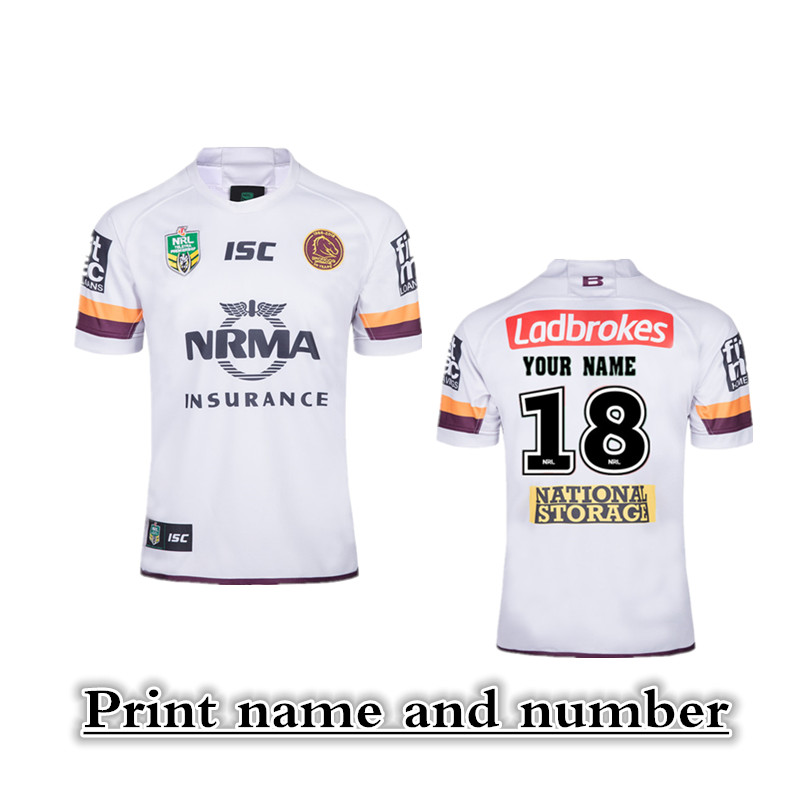 32fc76364 2018/2019 NRL JERSEYS BRISBANE BRONCOS RUGBY AWAY Jersey size S-3XL (Print  name