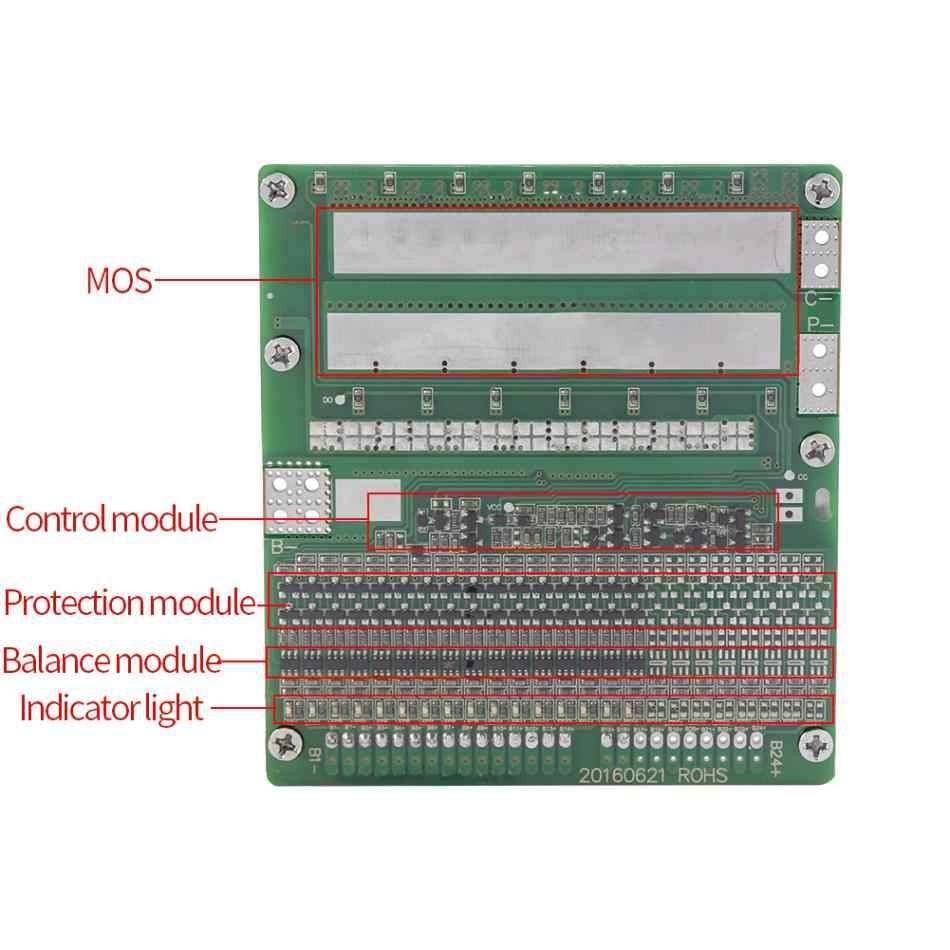 1 Pcs 16 S Placa de Proteção 30A 48 V LiFePO4 60 V Bateria de Polímero de Lítio BMS Placa de Proteção com Equilíbrio Placa de Proteção PCB
