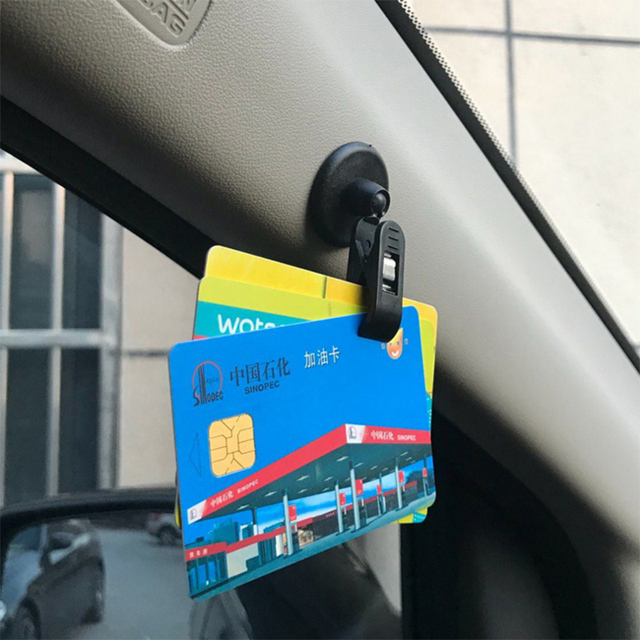 1 Pair Car Interior Window Clip Mount Black Suction Cap Clip Plastic Sucker Removable Holder For Sunshade Curtain Towel Ticket