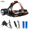 3800 Lumen Cree XML T6 LED Head Lamp Flashlight Waterproof Fishing headlamp Lantern with Car-charger 18650 Rechargeable Battery