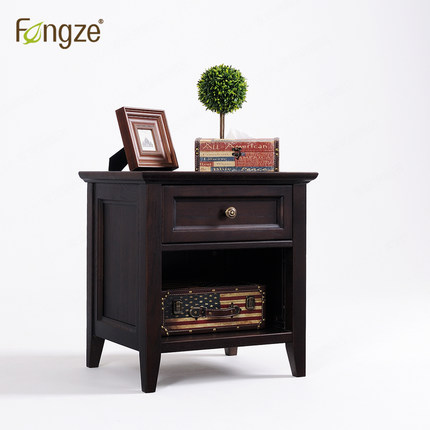 Fengze Furnishing Fz113 Wooden Nightstand Simple Country Style Bedroom Mini Storage Small Bedside Cabinet Solid Wood In Oak Nightstands From Furniture On