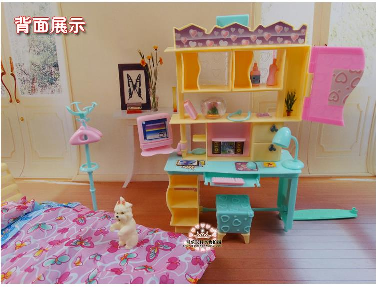 Neues Design Puppe Bett Schrank Set/Puppenhaus Schlafzimmer Möbel ...