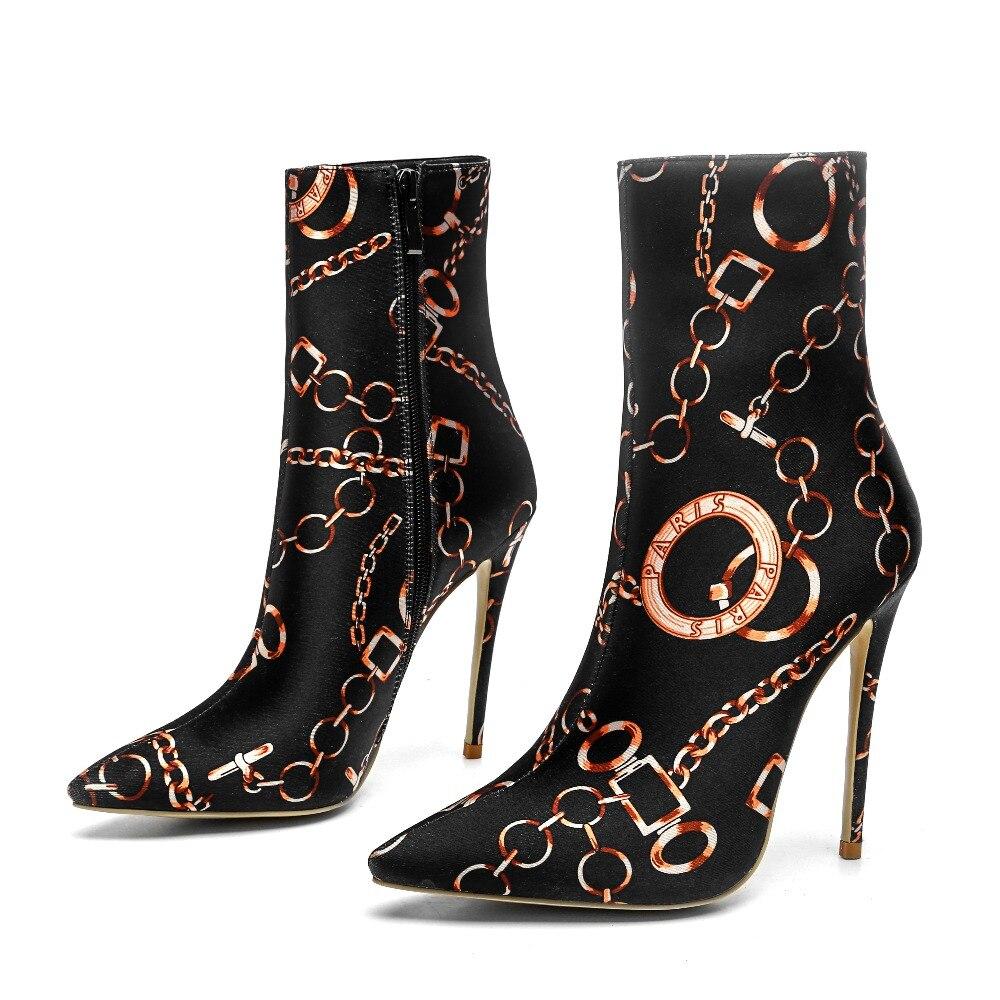 Chaud Dames Chaîne Peluche De En Mujer Court Doublure Femme Imprimer Hauts Themost Zapatos Botas Bottes Talons Noir Cheville 8Nnvm0wO