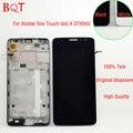 Alta qualidade de exibição para alcatel one touch idol x 6040 ot6040 ot6040 screen display lcd de toque digitador com quadro