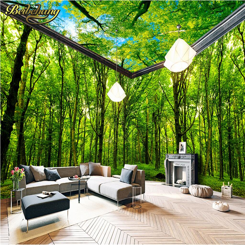 Forest themed living room living room for Forest themed bedroom ideas