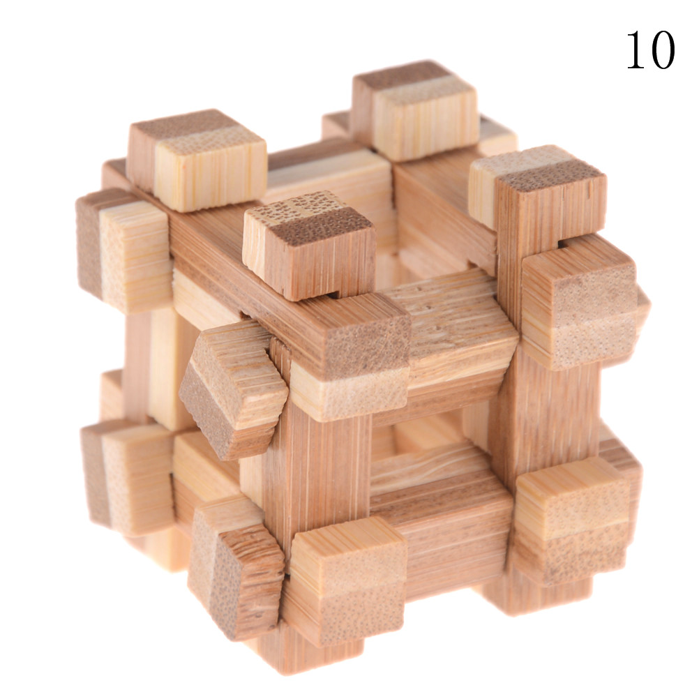Kong Ming Luban Lock Kids Children 3D Handmade Wooden Toy Adult Intellectual Brain Tease Game Puzzle 16
