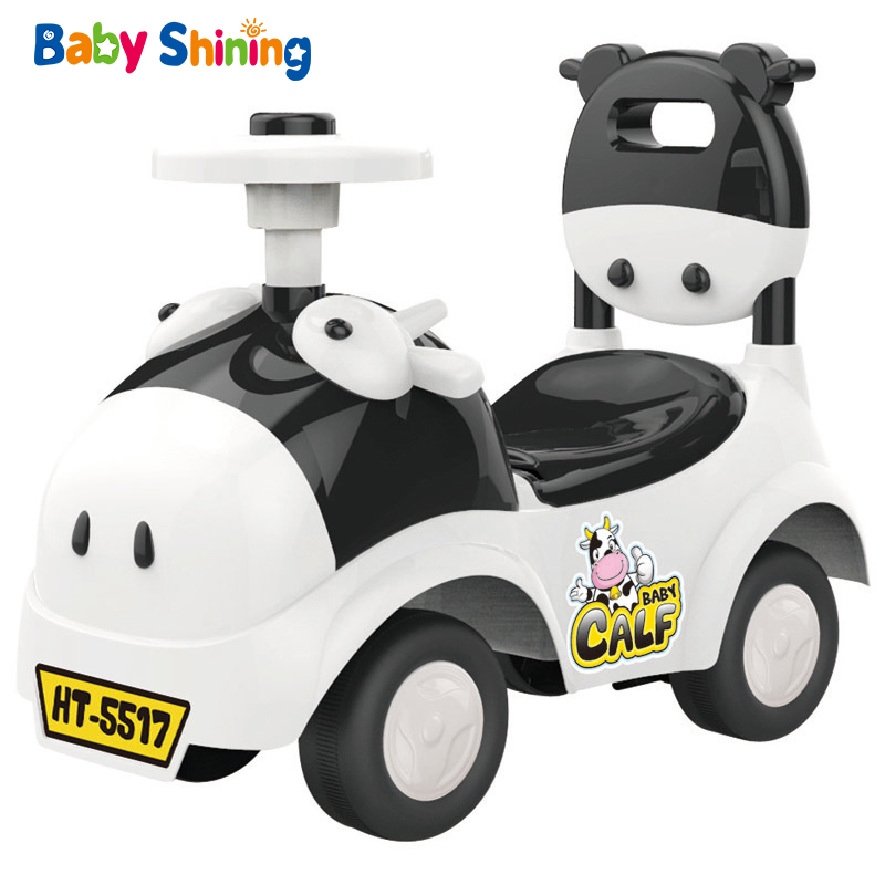 Детский Сияющий автомобиль ходунки, игрушка для детей, катающаяся на автомобиле, От 1 до 3 лет, детский скутер, балансировочный велосипед, поезд, ходунки, 4 колеса