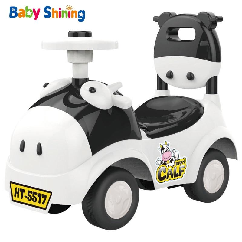 Baby Shining Baby Walker Car Toy Children Ride on Car 1-3 Years Old Kids Scooter Balance Bike Train Baby Walker 4 Wheels