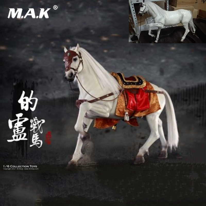 цена Collectible 303TOYS NO.120 1/6 Three Kingdoms Liu Bei War Horse Ancient Horses Figure Toys for 12'' Action Figure Body Accessory