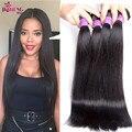 9A Virgem weave Brasileiro do cabelo reto 3 pcs Ms gato Mink cabelo virgem Brazillian reta não transformados ofertas bundle cabelo virgem