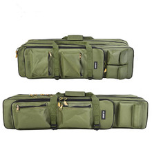 Fishing Bags High Capacity 600D Oxford Cloth Waterproof Three Layers Multifunction Army Green Fishing Rods Reel Gear Lures Bag pegasi 17 high quality multifunction repair electrician tool bag single shoulder oxford cloth waterproof large capacity 600d