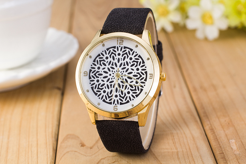9 Colores Hora Causal Relojes de flores huecos para mujeres Lo que - Relojes para mujeres