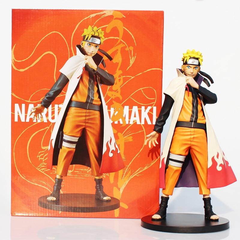 Color boxed 26cm Uzumaki Naruto shippuden PVC Figure Toy Great Gift For Boy prospector boxed rtf