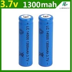 1 pcs set high capacitance 14500 battery 3 7v 1300mah rechargeable li ion battery for led.jpg 250x250