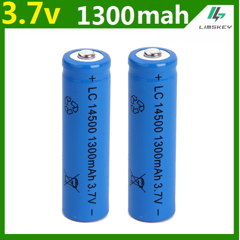 1 pcs/set High capacitance <font><b>14500</b></font> <font><b>battery</b></font> 3.7V 1300mAh rechargeable <font><b>li</b></font>-<font><b>ion</b></font> <font><b>battery</b></font> for Led flashlight batery litio <font><b>battery</b></font> Newest image