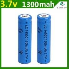 Battery para Lanterna 1 Pçs e set Alta Capacidade 14500 Bateria 3.7 V 1300 MAH Recarregável Li-ion Batery Litio Mais Novo