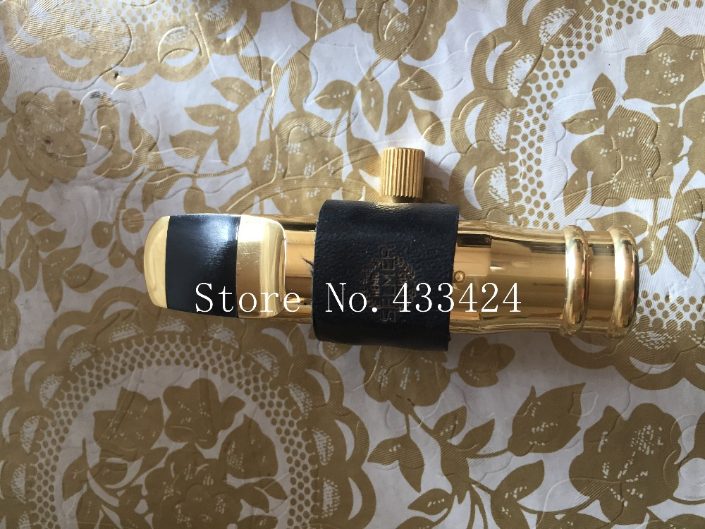 Excellent  SELMER ALTO E flat  Eb SAX  Metal Mouthpiece # 8 size for Saxophone Professional GOLD  plated Saxe filters