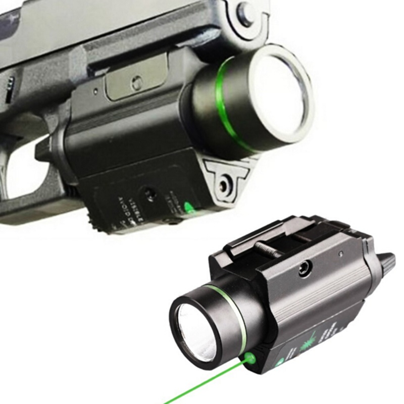 Tactical Flashlight &Green Laser Sight CREE LED Light Combo Mount Ultra Bright 225 lumen For weaver picatinny 20mm C high quality 2 in 1 tactical insight red laser cree q5 led 300 lumen flashlight sight combo for pistol gun 2x3v cr123a