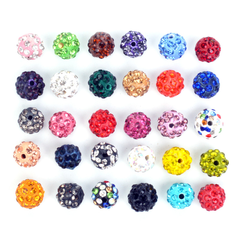 Search For Flights 10mm Size 33 Colored 50pcs/lot Shamballa Crystal Clay Pave Rhinestone Disco Ball Beads For Shamballa Bracelet Shambhala Beads Moderate Price Beads & Jewelry Making